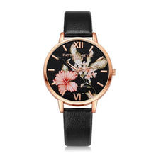 "Load image into Gallery viewer, Lvpai Women's Bracelet ""Roses Are Gold"" Flowers Leather Watch"