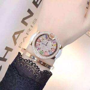 Mashali Multicolor Roman Numeral Crystal Women's Watch