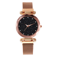 Load image into Gallery viewer, Vansvar Quartz Stainless Steel Band Mesh Magnet Buckle Analog Watch