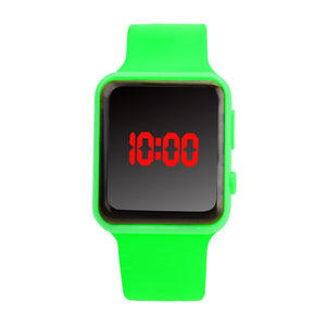 "Unisex Digital LED ""No Frills"" Silicone Band Watch"