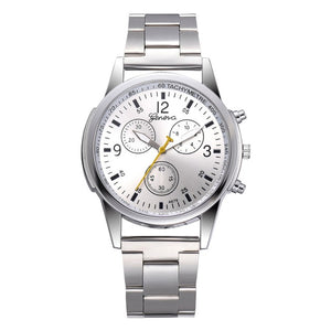 Men's Chronograph Stainless Steel Band Sport Watch