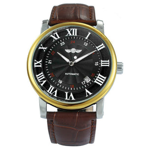 Classic Men's Luxury Automatic Mechanical Leather Strap Watch