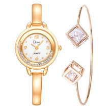 Load image into Gallery viewer, Rhinestone Dial Jewel Bracelet Watch Set