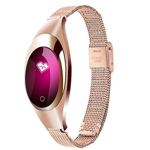 Z18 Blood Pressure, Blood Oxygen & Heart Rate Monitor Women Smart Watch