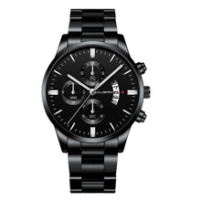 Load image into Gallery viewer, CUENA Military Stainless Steel Sport Chronograph Watch