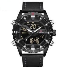"Load image into Gallery viewer, NAVIFORCE Men's ""Biker Lion"" Leather Outdoor Waterproof Military Watch"