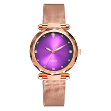 Load image into Gallery viewer, Vansvar Women's Quartz Stainless Steel Mesh Band Starry Watch