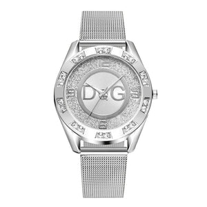 Women's Crystal Stainless Steel Band Quartz Watch