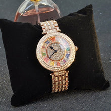 "Load image into Gallery viewer, Rhinestone ""Roman Numeral Clover"" Women's Watch"