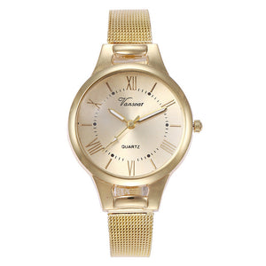 Vansvar Quartz Stainless Steel Band Analog Watch