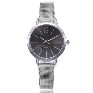 Vansvar Casual Quartz Stainless Steel Band Marble Face Watch