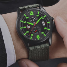 "Load image into Gallery viewer, Military Men's ""Guerilla"" Nylon Band Sport Watch"