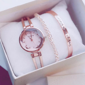 Ulzzang Trinity Bracelet Watch Set