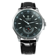 Load image into Gallery viewer, Men's Auto Mechanical Working Sub-Dial Leather Strap Watch
