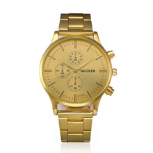 Load image into Gallery viewer, Migeer 2019 Fashion Relogio Masculino Gold men's watches quartz watches Business Reloj Hombre Erkek Saat Date Orologio Uomo