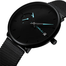 "Load image into Gallery viewer, Crrju Men's ""Blackout"" Quartz Watch"