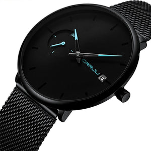 "Crrju Men's ""Blackout"" Quartz Watch"
