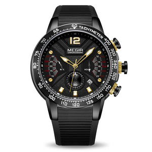 "Megir ""Elysium"" Men's Silicon Sport Chronograph Watch"