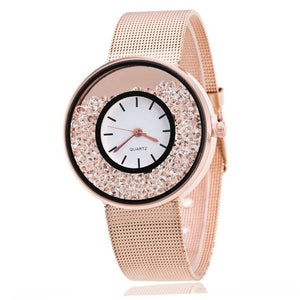 "Rhinestone ""Round The Clock"" Women's Watch"