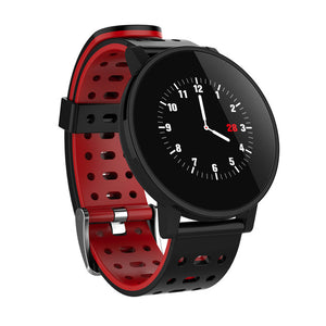 IP67 Smart Watch LED Display Fitness Tracker Heart Rate Sensor Blood Pressure men's Watch For IOS Android 4.4