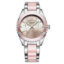 "Load image into Gallery viewer, Women's ""Soft & Pink"" Stainless Steel Quartz Watch"