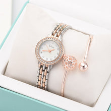 Load image into Gallery viewer, Stardust Ball Rhinestone Bracelet and Watch Set
