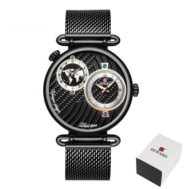 Luxury Watchnetic Dual Dial Quartz Men's Waterproof Watch