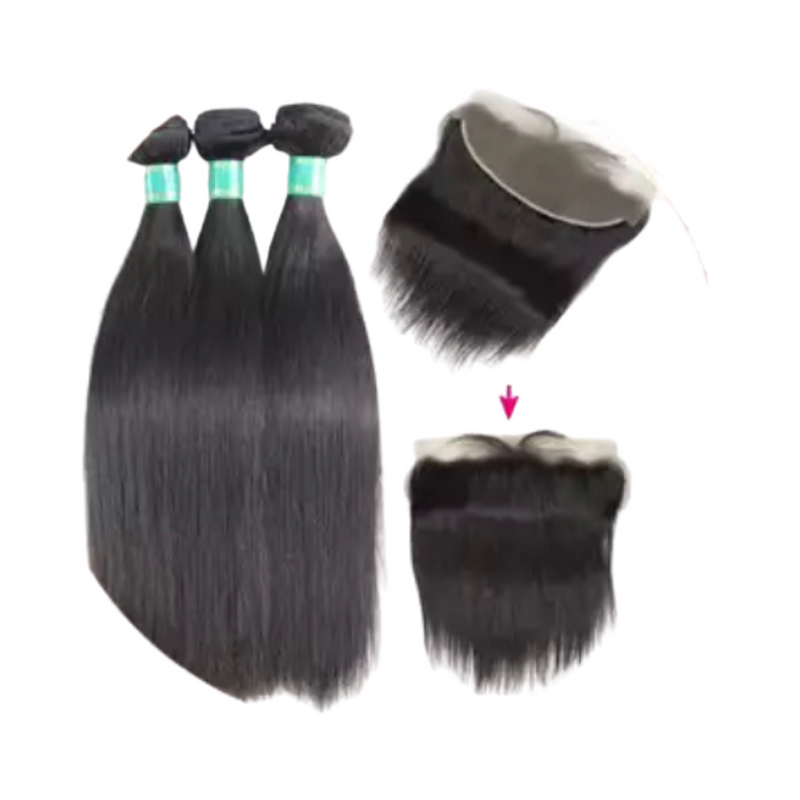 Straight - 3 Piece Bundles & Frontal - Alcoholic Hair