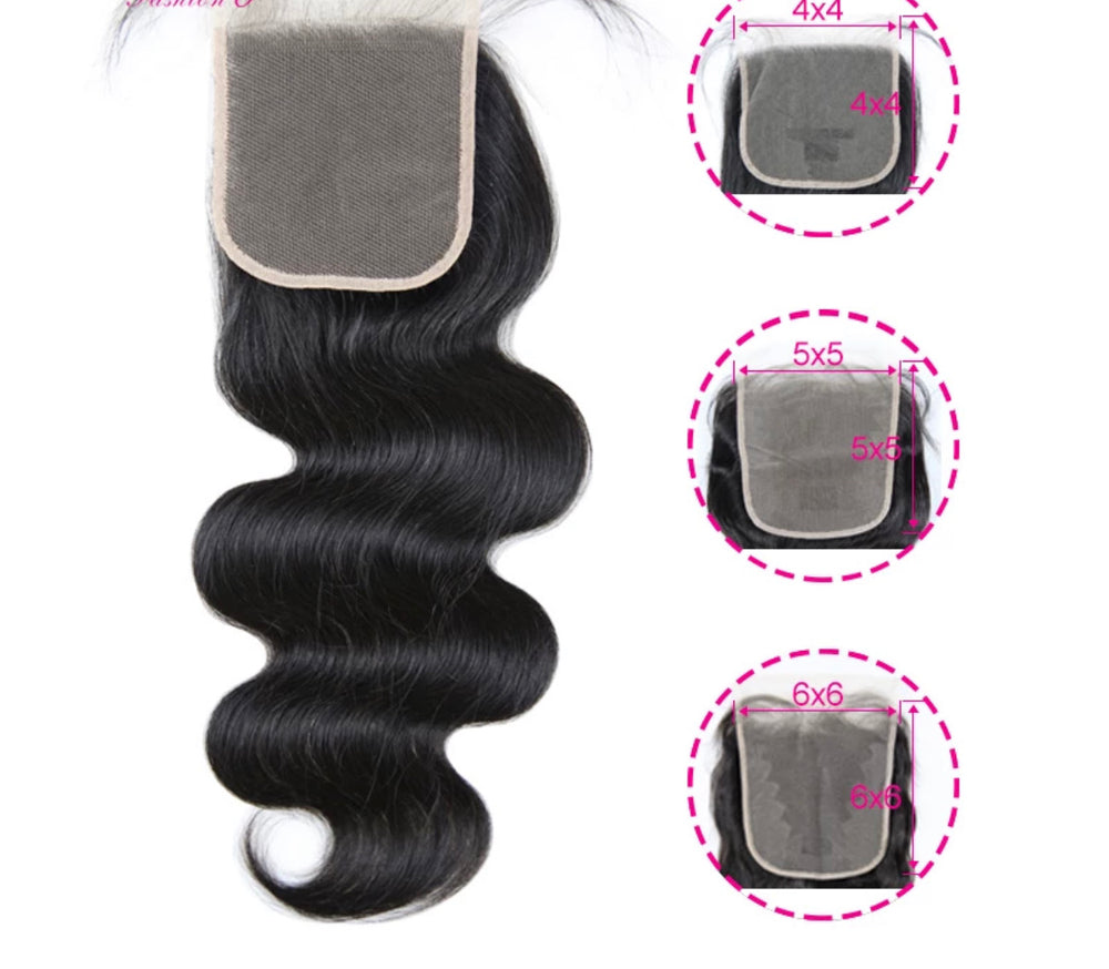 Body Wave - Indv. Lace Closure - Alcoholic Hair