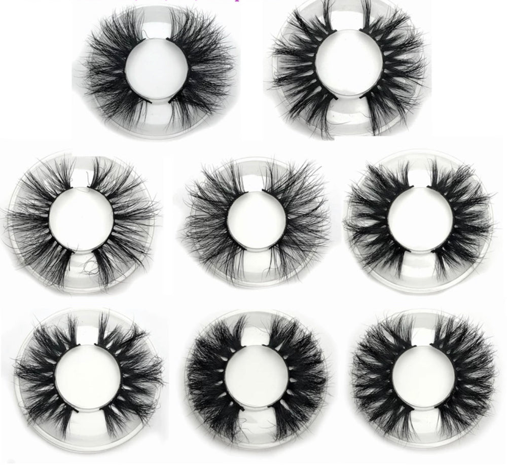 3D - 25mm Mink Lashes- Round Case - Alcoholic Hair