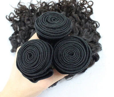 Kinky Curly - 3 Piece Bundles & Closure - Alcoholic Hair