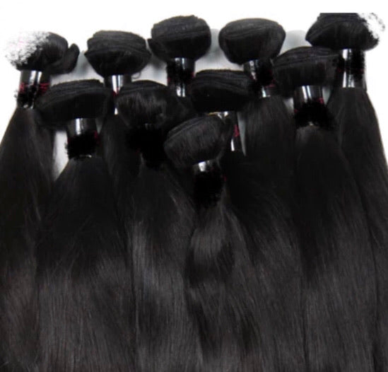 Straight -10 Piece Wholesale Bundles - Alcoholic Hair