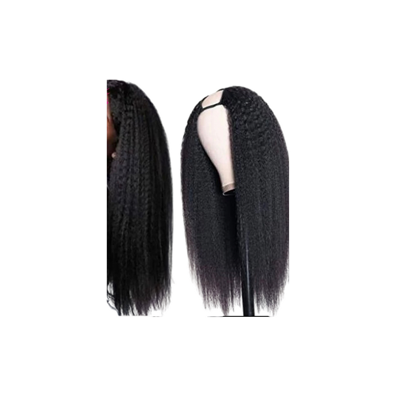 Kinky Straight - Lace Closure Wig - U Part - Alcoholic Hair