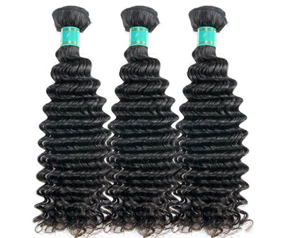 Deep Wave - 3 Piece Bundles & Frontal - Alcoholic Hair