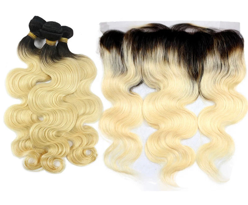 Body Wave - 3 Piece Bundles & Frontal - Alcoholic Hair