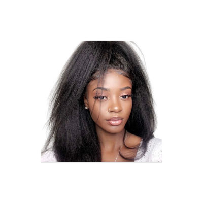 Kinky Straight - Lace Frontal Wig - Alcoholic Hair