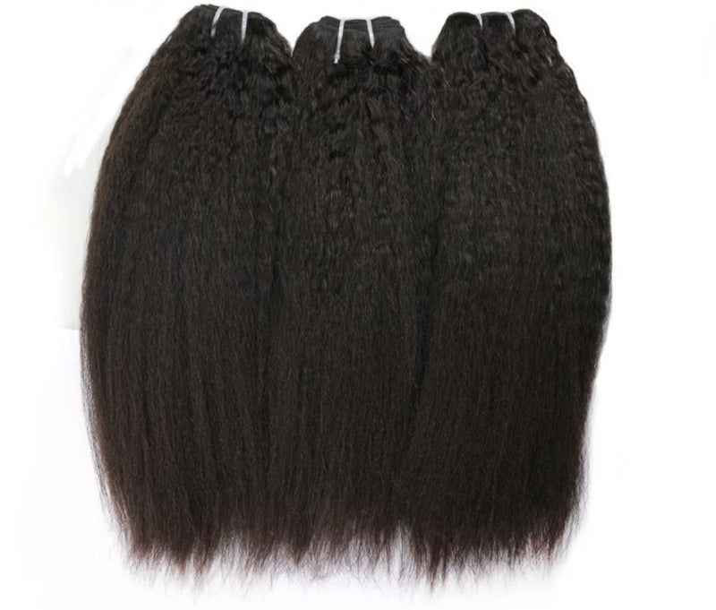 Kinky Straight- 3 Piece Bundles - Alcoholic Hair