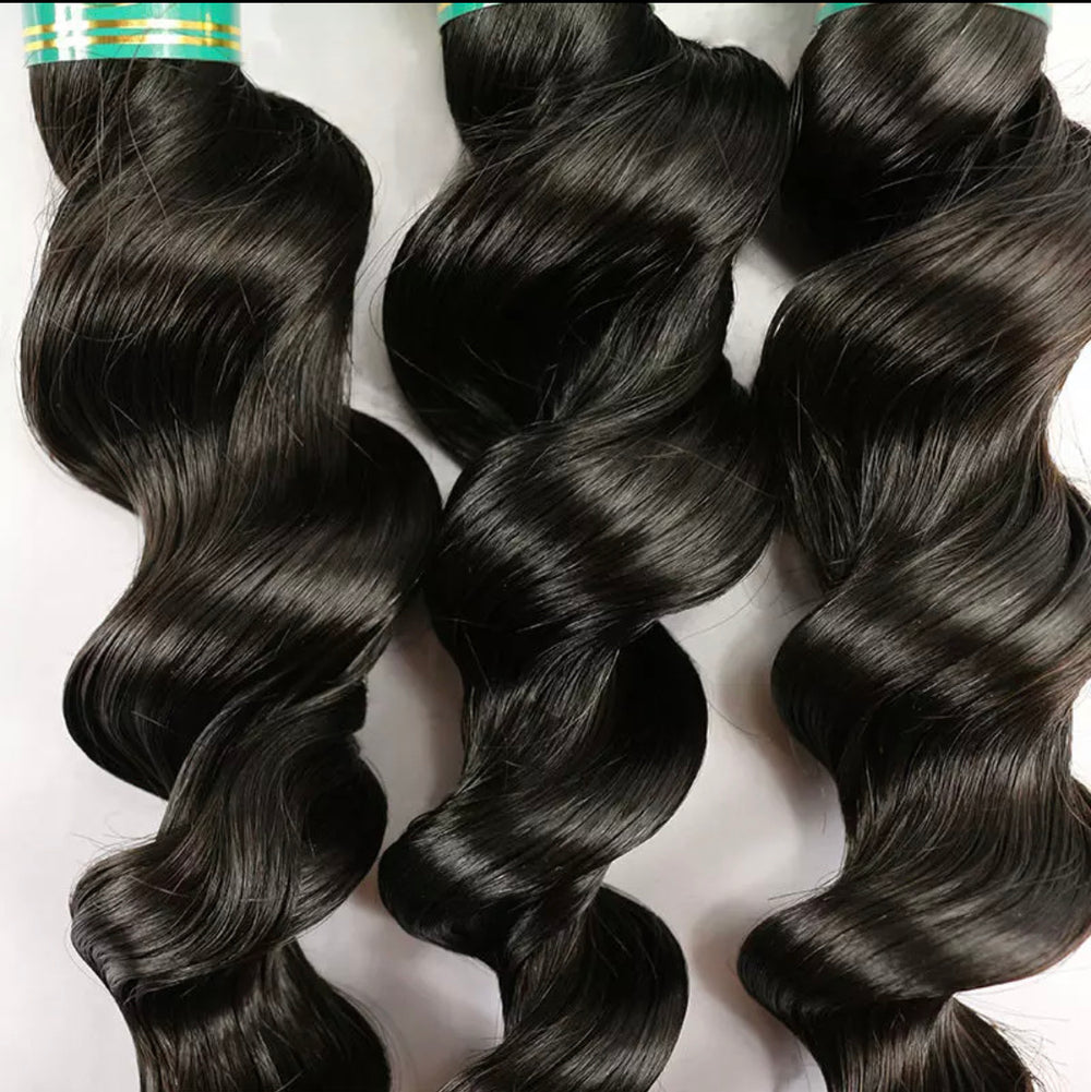 Loose Wave - 3 Piece Bundles & Frontal - Alcoholic Hair