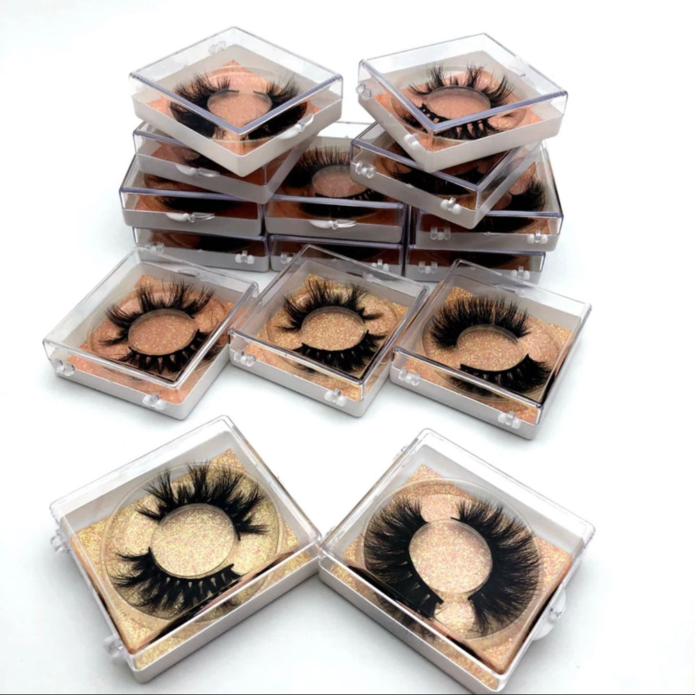 25 mm Mink Lashes- Square Case - Alcoholic Hair