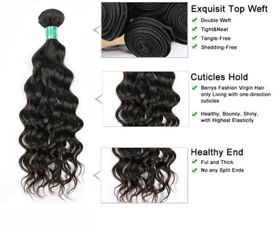 Water Wave - 3 Piece Bundles - Alcoholic Hair