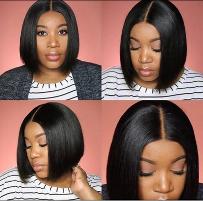 Straight - Lace Closure Wig - Alcoholic Hair