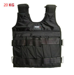 20KG / 50KG Max Loading Weighted Vest Durable Adjustable Boxing Training Thickening Exercise Waistcoat Fitness Jacket