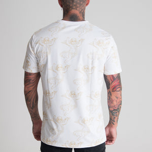 DREAM CHERUB ALL OVER T-SHIRT (WHITE) - DREAMWEAR