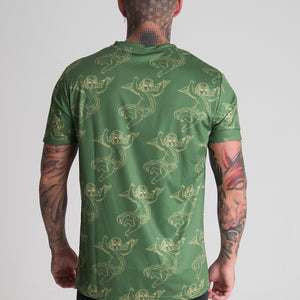 DREAM CHERUB ALL OVER T-SHIRT (GREEN) - DREAMWEAR