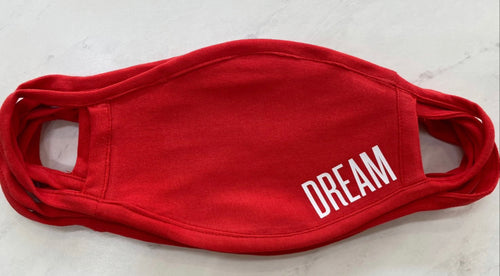DREAM ADULT FACE MASK (RED)