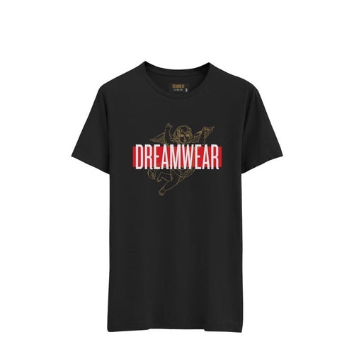 DREAMWEAR LOGO STRIPE T-SHIRT (BLACK)