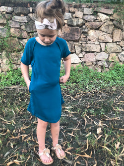 Bottle Emerald Green Mini Me Dress