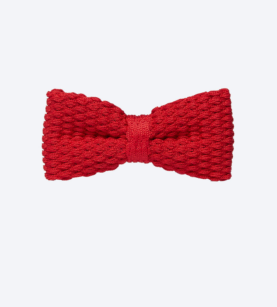 Red Knit Bow Tie