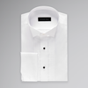 White Pleated Tuxedo Shirt