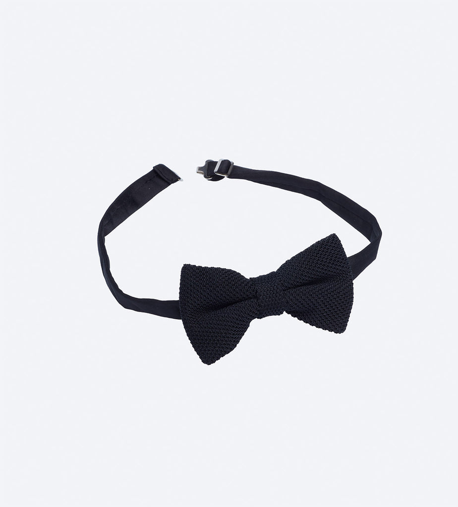 Black Pinhead Bow Tie For Fashionable Men